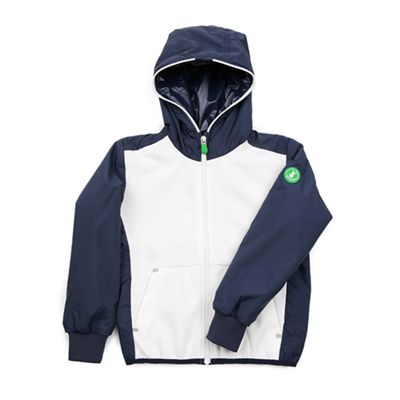 Save The Duck Unisex Lightweight Hoodie - 10 - Coconut White / Navy Blue