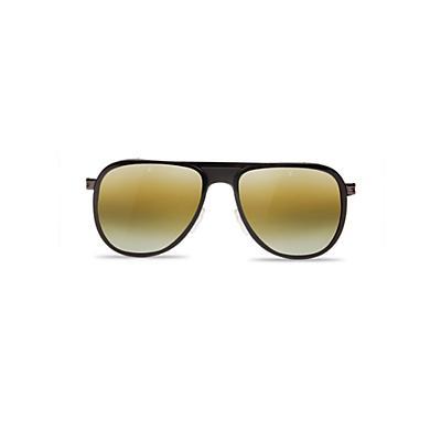 Vuarnet VL1315 Sunglasses - Matte Black/Matte Black Gold/Pure Brown Gold Flshd
