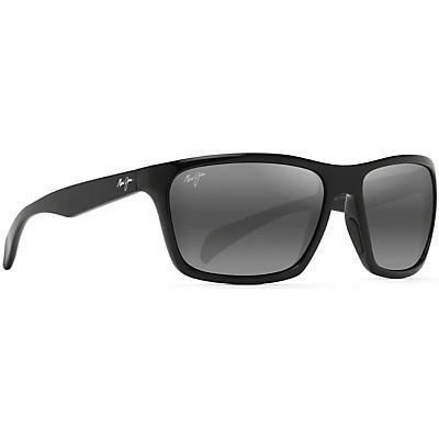 Maui Jim Makoa Polarized Sunglasses - Gloss Black/Neutral Grey