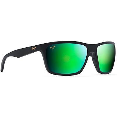 Maui Jim Makoa Polarized Sunglasses - Matte Black/Maui Green