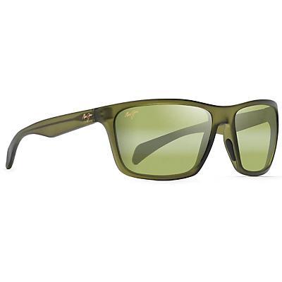 Maui Jim Makoa Polarized Sunglasses - Matte Translucent Khaki/Green/Maui HT