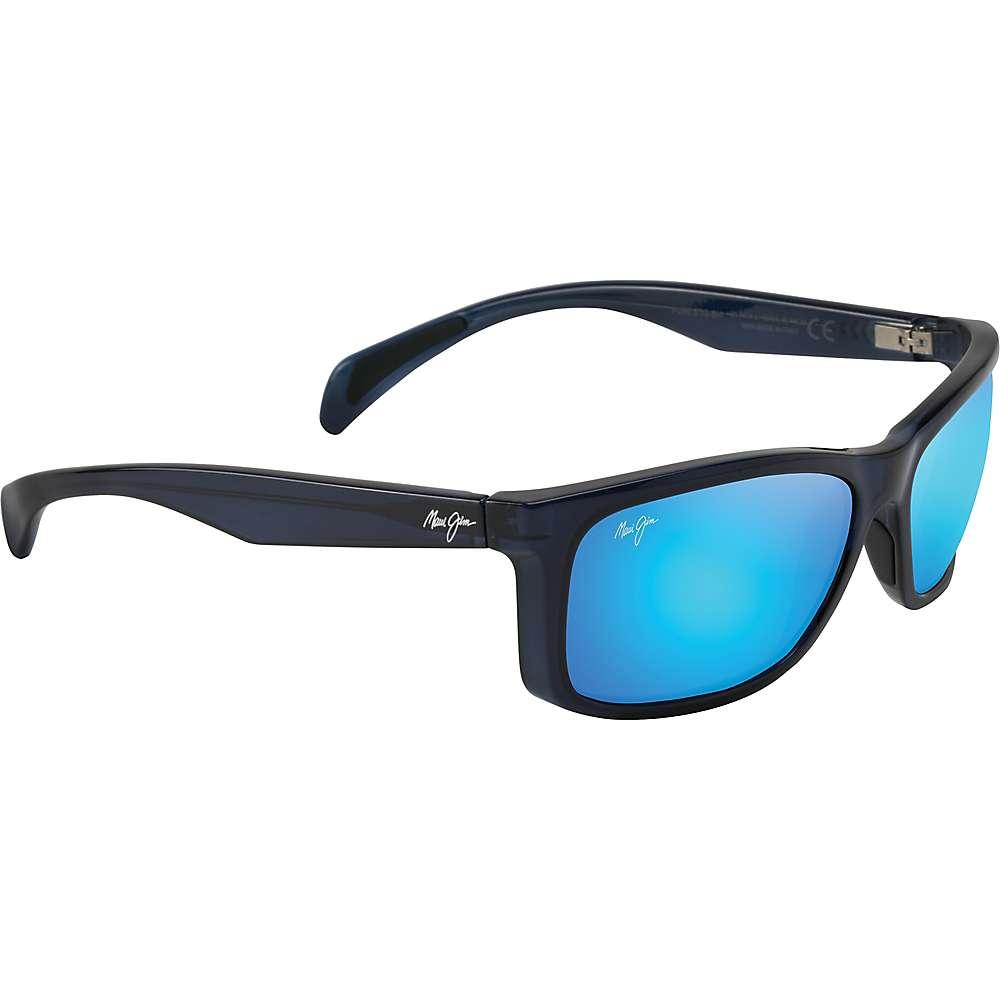 Maui Jim Puhi Polarized Sunglasses - One Size - Translucent Navy Blue/Blue Hawaii