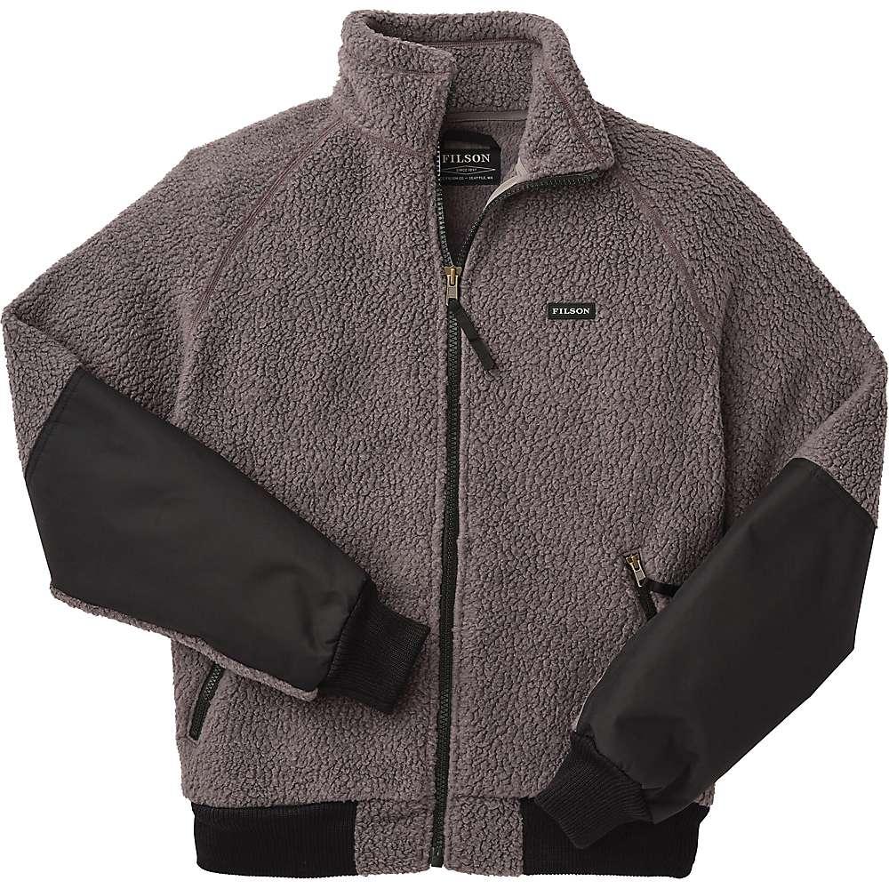 Reviews Filson Mens Sherpa Fleece Jacket - Medium - Charcoal Grey