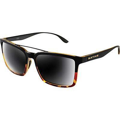 Native Four Corners Polarized Sunglasses - Matte Black Tort/Grey Polarized