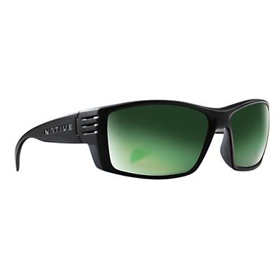 Native Raghorn Polarized Sunglasses - Matte Black/Green Reflex Polarized