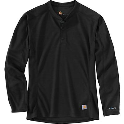 Carhartt Base Force Midweight Classic Henley (Tall) - Black - Men