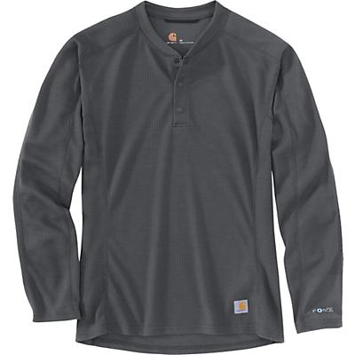Carhartt Base Force Midweight Classic Henley - Shadow - Men