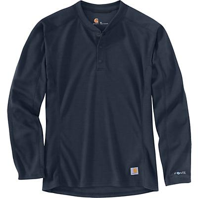 Carhartt Base Force Midweight Classic Henley - Navy - Men