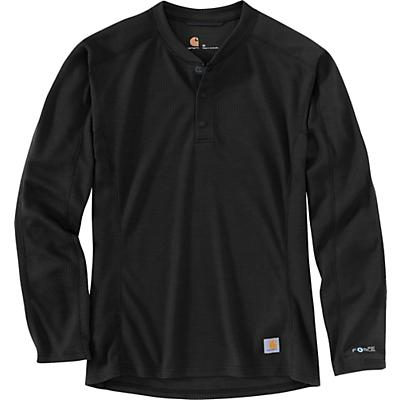 Carhartt Base Force Midweight Classic Henley - Black - Men