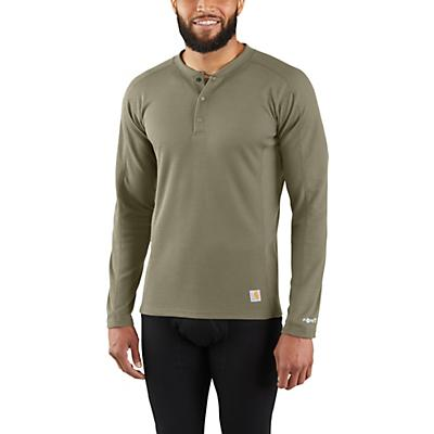 Carhartt Base Force Midweight Classic Henley - Burnt Olive - Men