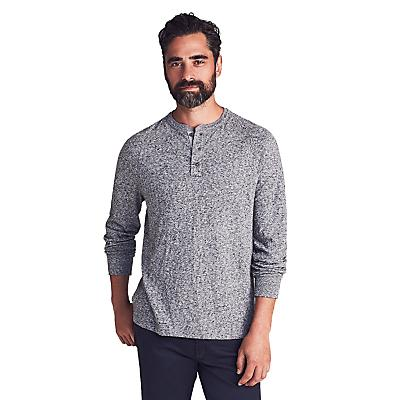 Faherty Luxe Heather Henley - Charcoal - Men