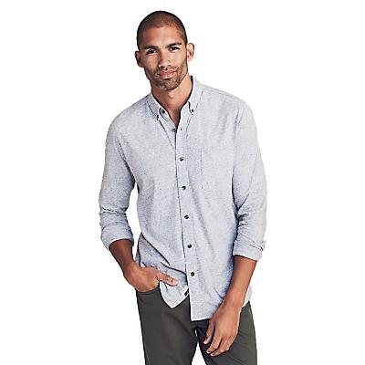 Faherty Luxe Heather Knit Shirt - Athletic Grey - Men