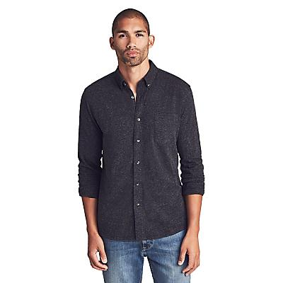 Faherty Luxe Heather Knit Shirt - Washed Black - Men