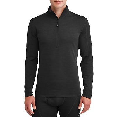 Ozark Trail Wool Blend Half Zip Baselayer Pullover - Black - Men