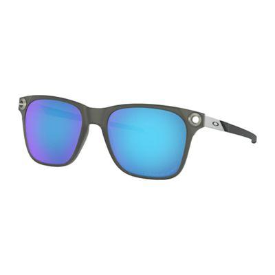 Oakley Apparition Polarized Sunglasses - One Size - Satin Black Ink/Sapphire Iridium Polarized