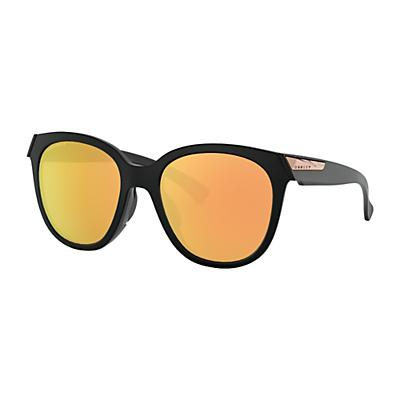 Oakley Low Key Polarized Sunglasses - Matte Black/Prizm Rose Gold Polarized