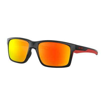 Oakley Mainlink XL Polarized Sunglasses - One Size - Polished Black/PRIZM Ruby Polarized