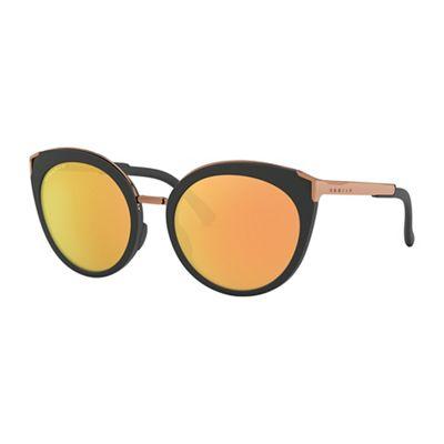Oakley Top Knot Polarized Sunglasses - One Size - Velvet Black/PRIZM Rose Gold Polarized