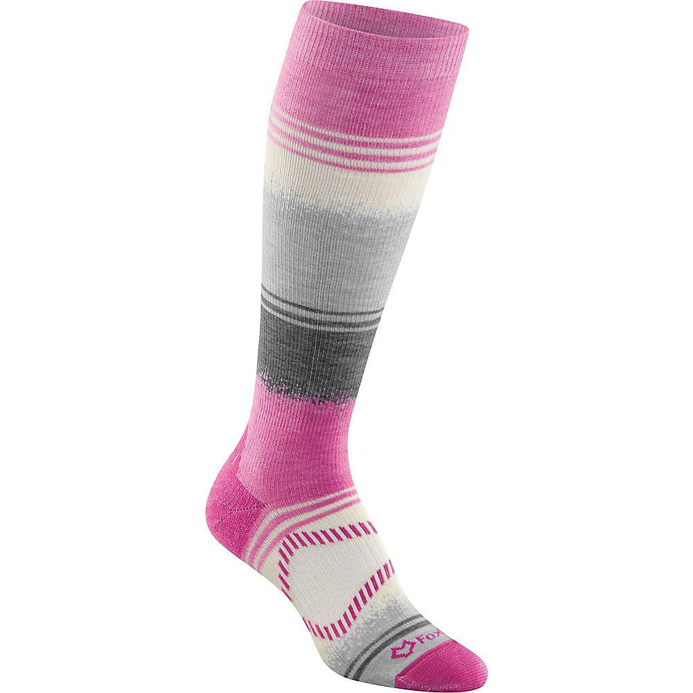 Fox River Chamonix Ski Sock - Large - Raspberry
