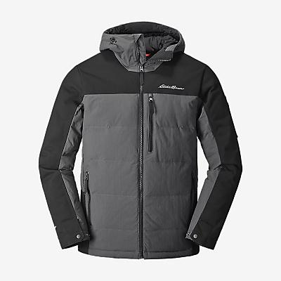 Eddie Bauer First Ascent Mountain Ops Hooded Down Jacket - Black