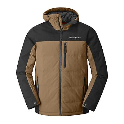 Eddie Bauer First Ascent Mountain Ops Hooded Down Jacket - Hazelnut
