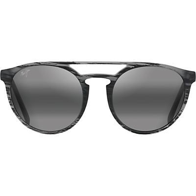 Maui Jim Ah Dang! Polarized Sunglasses - Matte Grey Stripe/Neutral Grey