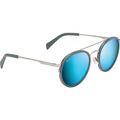 Maui Jim Even Keel Polarized Sunglasses - Burshed Silver/Blue Hawaii