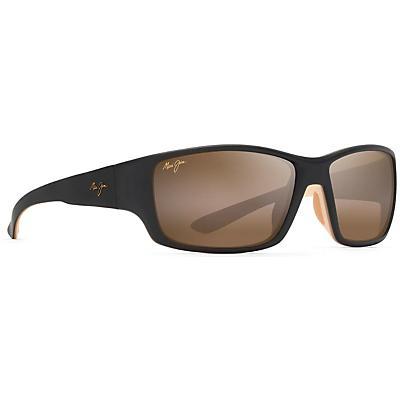 Maui Jim Local Kine Polarized Sunglasses - Matte Dark Transparent Brown/Tan/Cream/HCL Bronze
