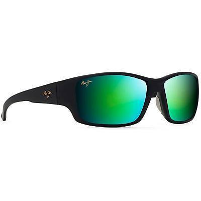 Maui Jim Local Kine Polarized Sunglasses - Soft Black/Dark Green/Translucent Grey/MAUIGreen