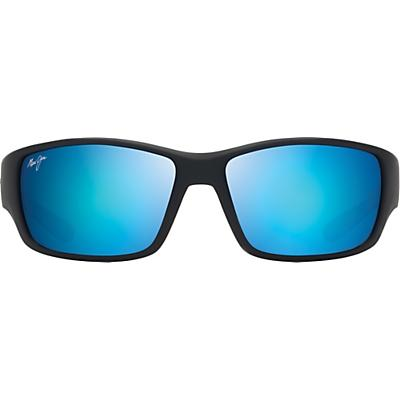 Maui Jim Local Kine Polarized Sunglasses - Soft Black/Sea Blue/Grey/Blue Hawaii