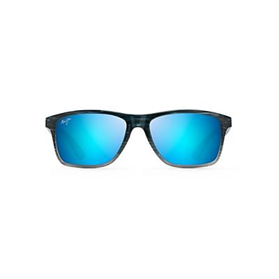 Maui Jim Onshore Polarized Sunglasses - Blue Black Stripe Fade/Blue Hawaii