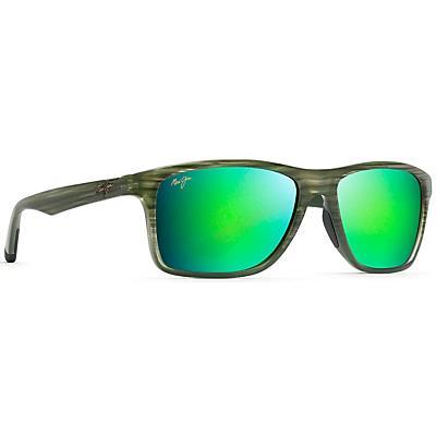 Maui Jim Onshore Polarized Sunglasses - Olive Stripe Fade/MAUIGreen