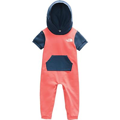 The North Face Infant French Terry Hooded Onesie - Miami Orange