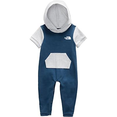 The North Face Infant French Terry Hooded Onesie - Shady Blue