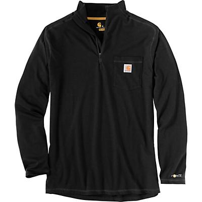 Carhartt Force Relaxed-Fit Midweight LS 1/4 Zip Pocket T-Shirt - Black - Men