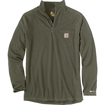 Carhartt Force Relaxed-Fit Midweight LS 1/4 Zip Pocket T-Shirt - Moss Heather - Men