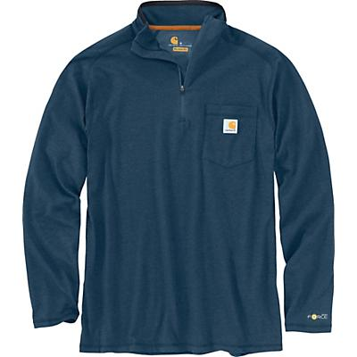 Carhartt Force Relaxed-Fit Midweight LS 1/4 Zip Pocket T-Shirt - Light Huron Heather - Men