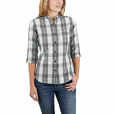 Carhartt Relaxed Fit Midweight Three-Quarter Sleeve Button-Fro - Twilight - Women