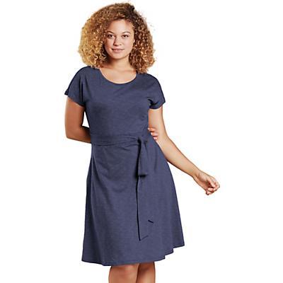 Toad & Co Cue Wrap SS Dress - True Navy - Women