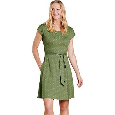 Toad & Co Cue Wrap SS Dress - Bronze Green Bandana Print - Women