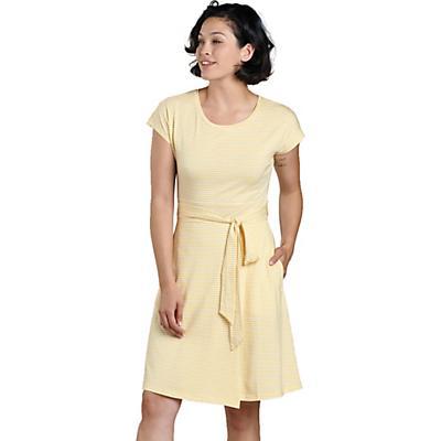 Toad & Co Cue Wrap SS Dress - Dusty Citron Stripe - Women