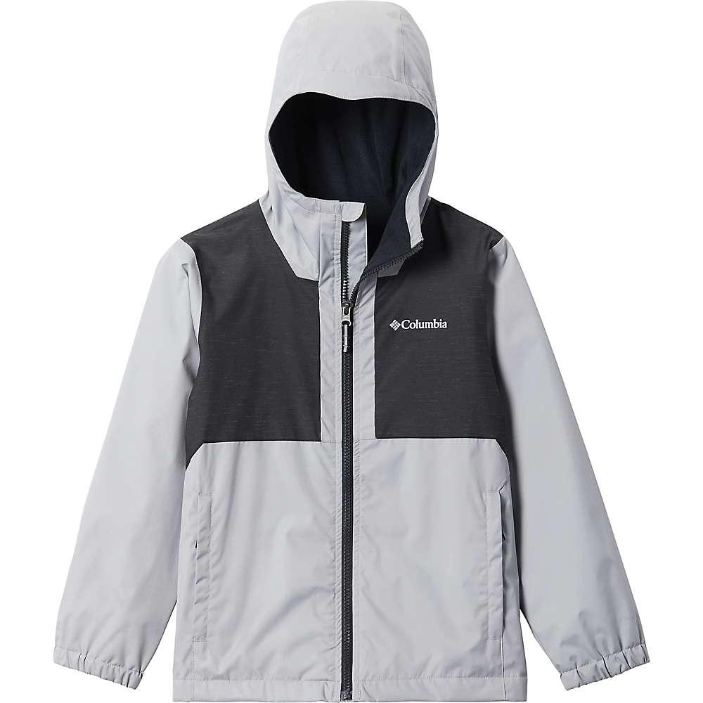 Reviews Columbia Toddler Boys Rainy Trails Fleece Lined Jacket - 3T - Columbia Grey / Black Slub