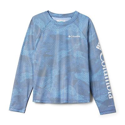 Columbia Youth Solar Chill Printed LS Top - Azul