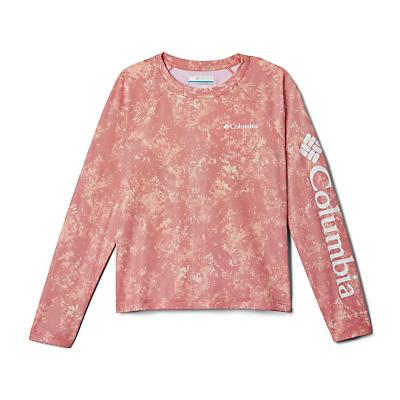 Columbia Youth Solar Chill Printed LS Top - Bright Poppy