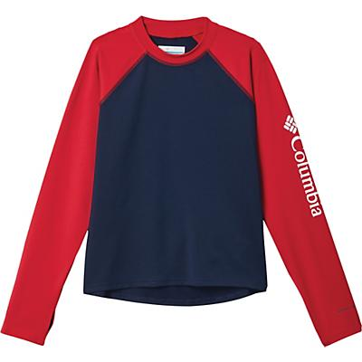 Columbia Youth Sandy Shores LS Sunguard Top - Collegiate Navy / Mountain Red