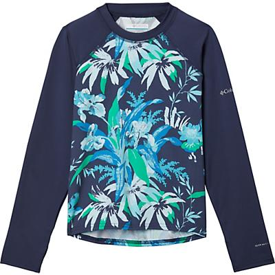 Columbia Youth Sandy Shores Printed LS Sunguard Top - Nocturnal Magnolia Floral / Nocturnal