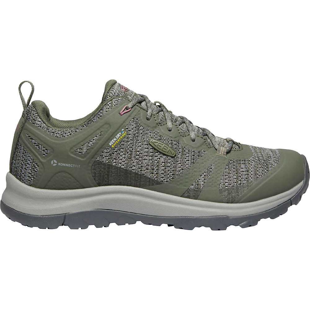 Coupons KEEN Womens Terradora 2 Low Height Waterproof Hiking Shoes - 5 - Dusty Olive / Nostalgia Rose