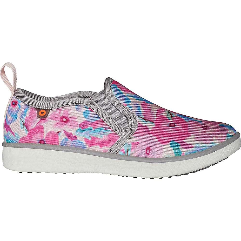 Reviews Bogs Kids Kicker Slip Pansies Shoe - 13 - Light Gray Multi