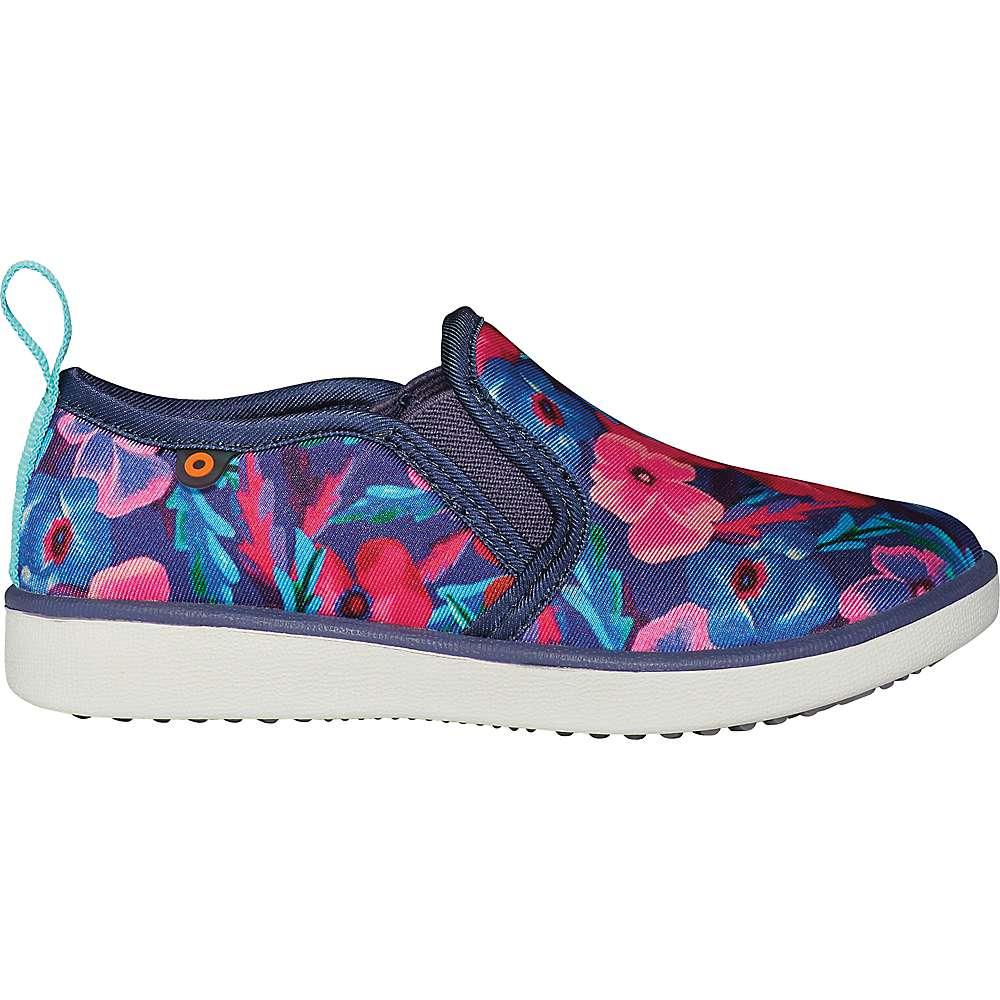 Best Bogs Kids Kicker Slip Pansies Shoe - 6 - Indigo Multi