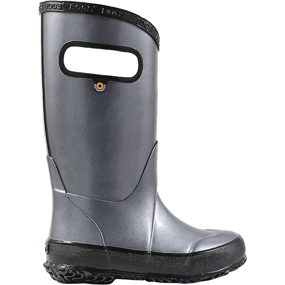 Discounts Bogs Kids Metallic Plush Rainboot - 10 - Steel